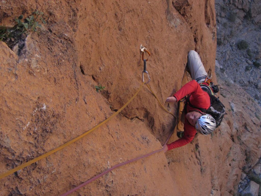 Compacte en scherpe rots en mooi technisch klimmen!