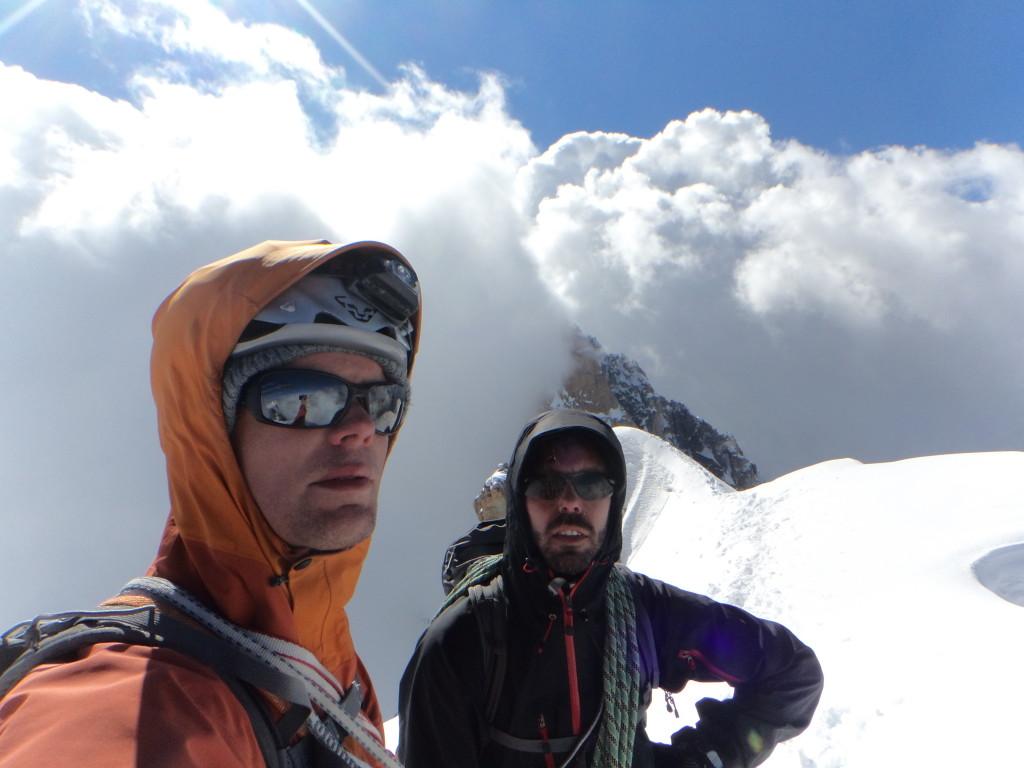 Op de top, beetje gespannen gezichtjes hier ;-)